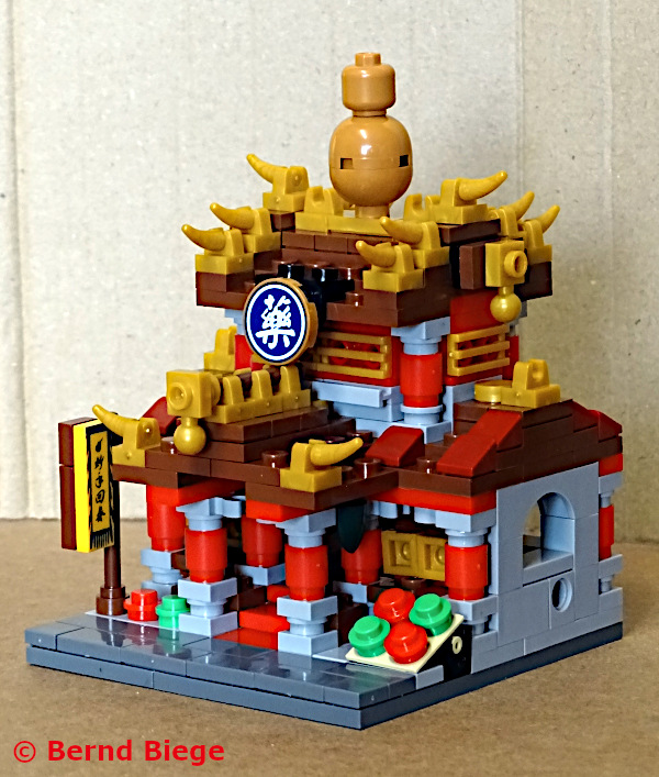 xingbao 01101-B fertiggebaut kleine chinesische apotheke aus klemmbausteinen