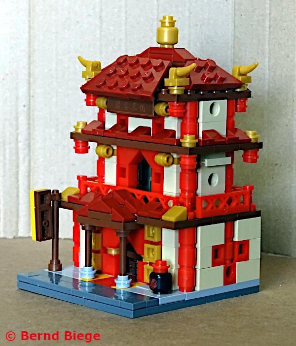 xingbao 01101-C kleine chinesische taverne aus klemmbausteinen aufgebaut