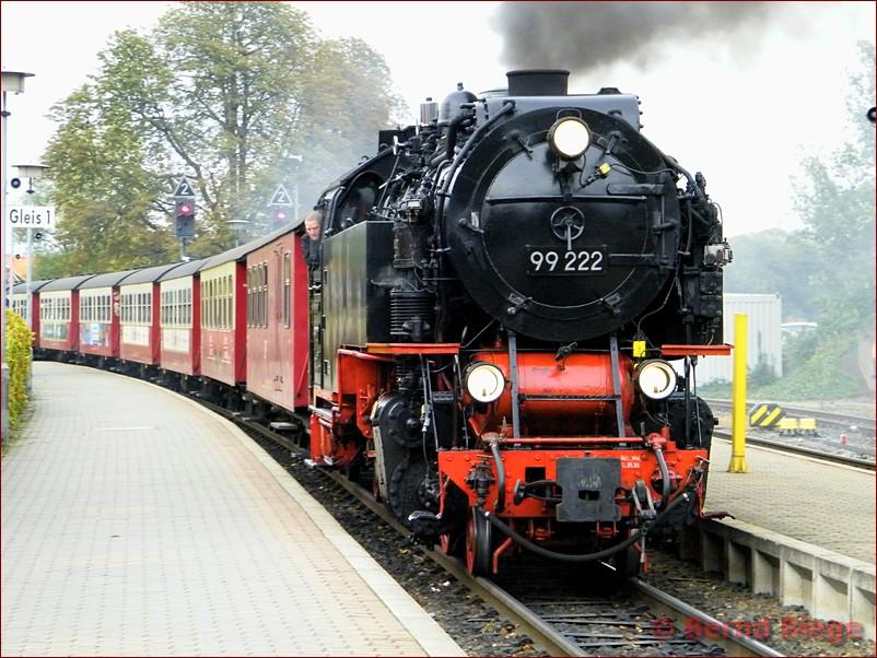 Brockenbahn am Bahnhof Wernigerode in Sachsen-Anhalt