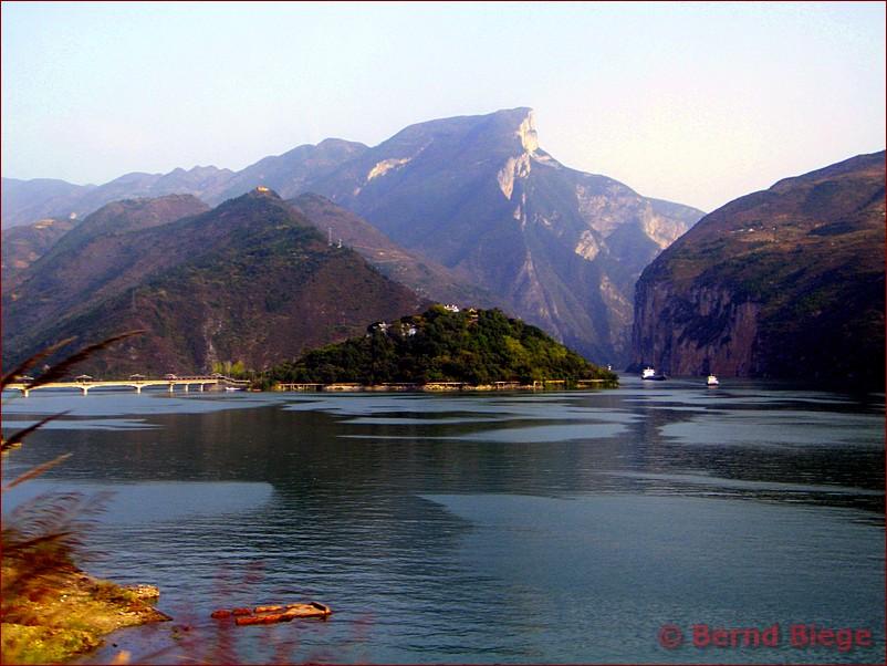 Baidicheng - heute eine Insel im Jangtsekiang